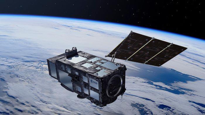 Sentinel-3-Satellit im Weltall. Credit: ESA/Pierre Carril