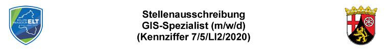 Stellenausschreibung GIS-Spezialist (m/w/d)(Kennziffer 7/5/LI2/2020)