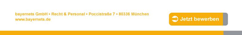 Hier bewerben oder unter bayernets GmbH • Personal • Poccistr. 7 • 80336 München • http://www.bayernets.de