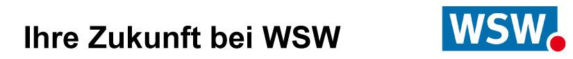 Ihre Zukunft bei WSW